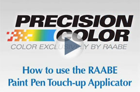 How to use the RAABE Paint Pen Touch-Up Applicator