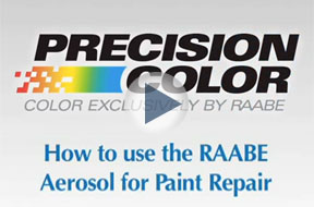 How to use the RAABE Aerosol for Paint Repair